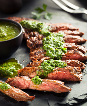 Grass-Fed Skirt Steak with Chimi