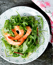 Keto Shrimp & Arugula Salad