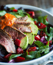 Steak Salad with Romesco