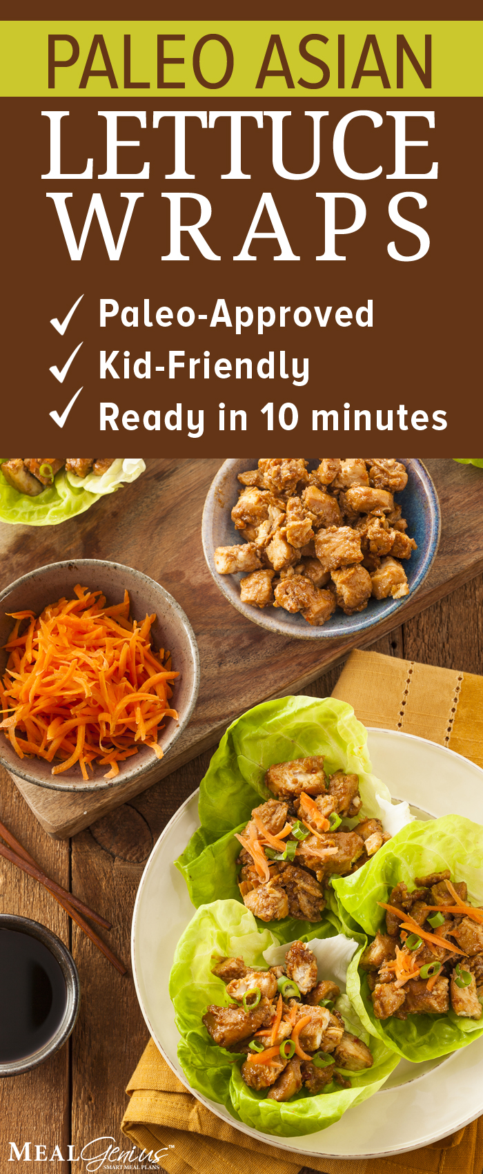 Paleo Asian Lettuce Wraps - Meal Genius Pinterest