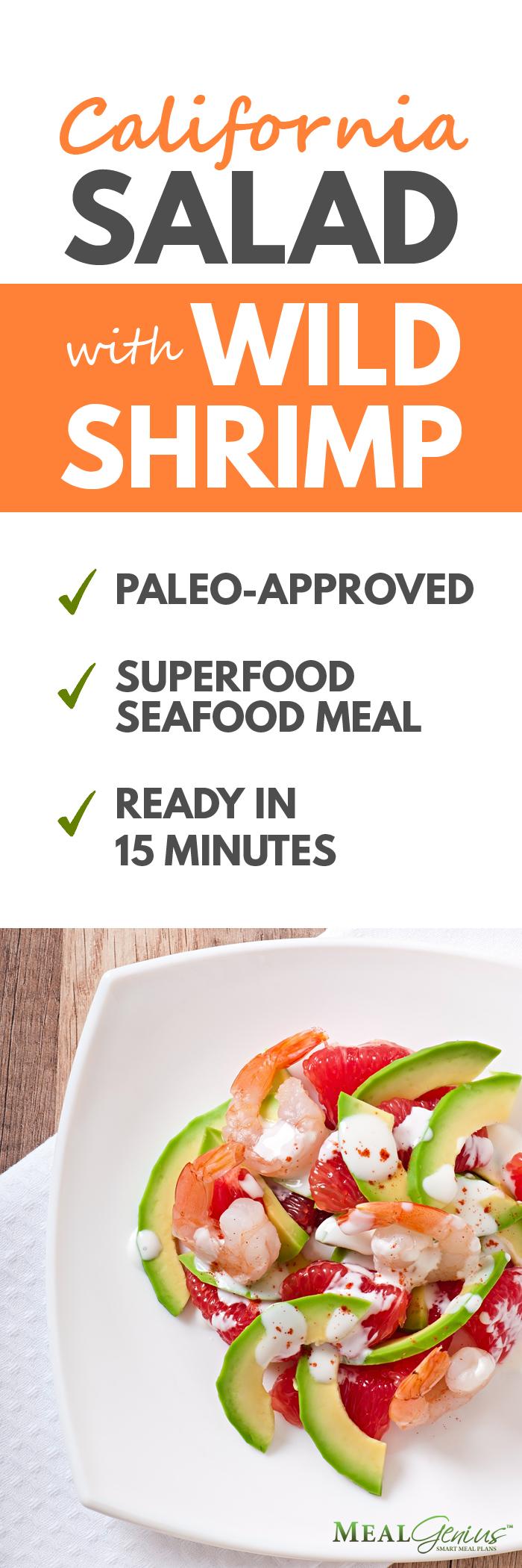 California Salad with Wild Shrimp - Meal Genius