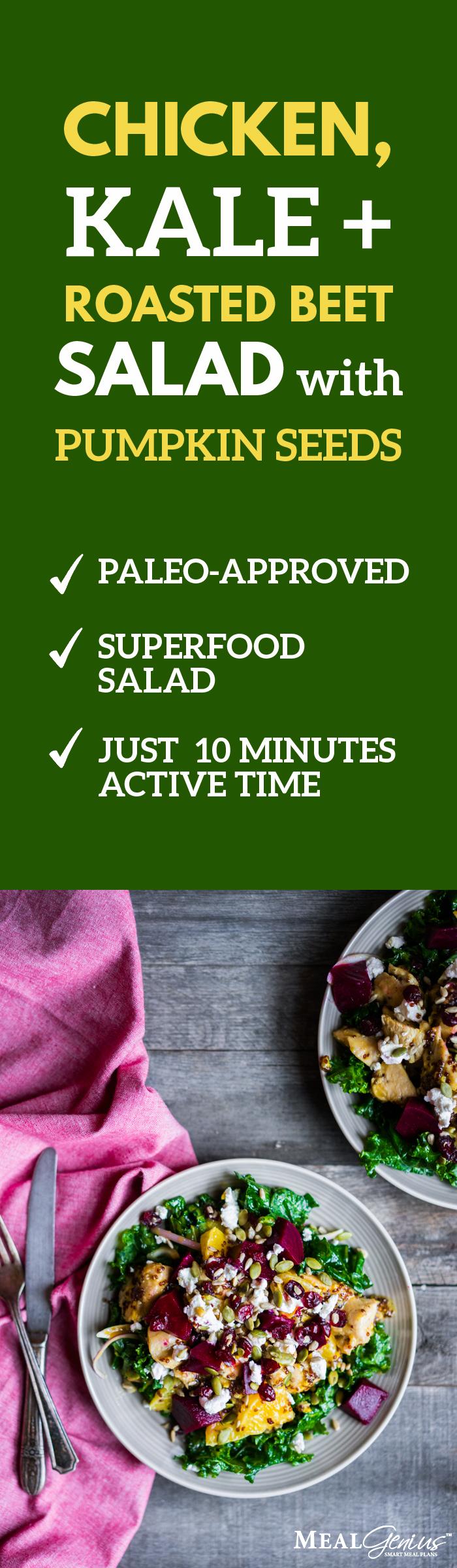 Chicken Kale Beet Salad - Meal Genius