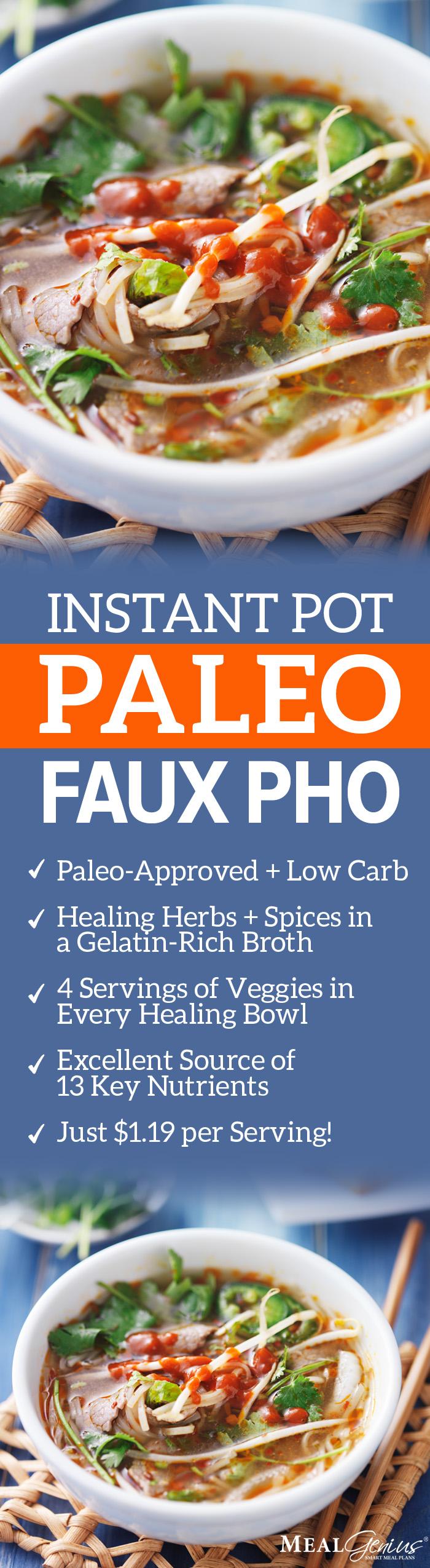 Instant Pot Paleo Faux Pho - Meal Genius