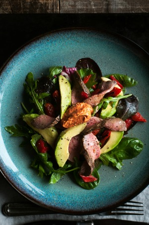 Keto Steak Avocado Salad