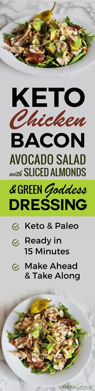 Keto Chicken Bacon Avocaod Salad - Meal Genius