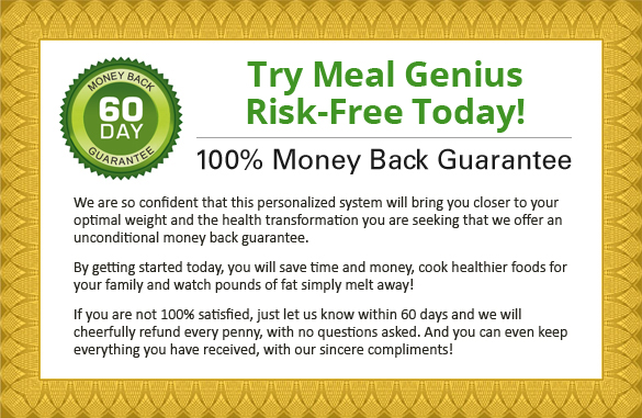Meal Genius Guarantee Certificate