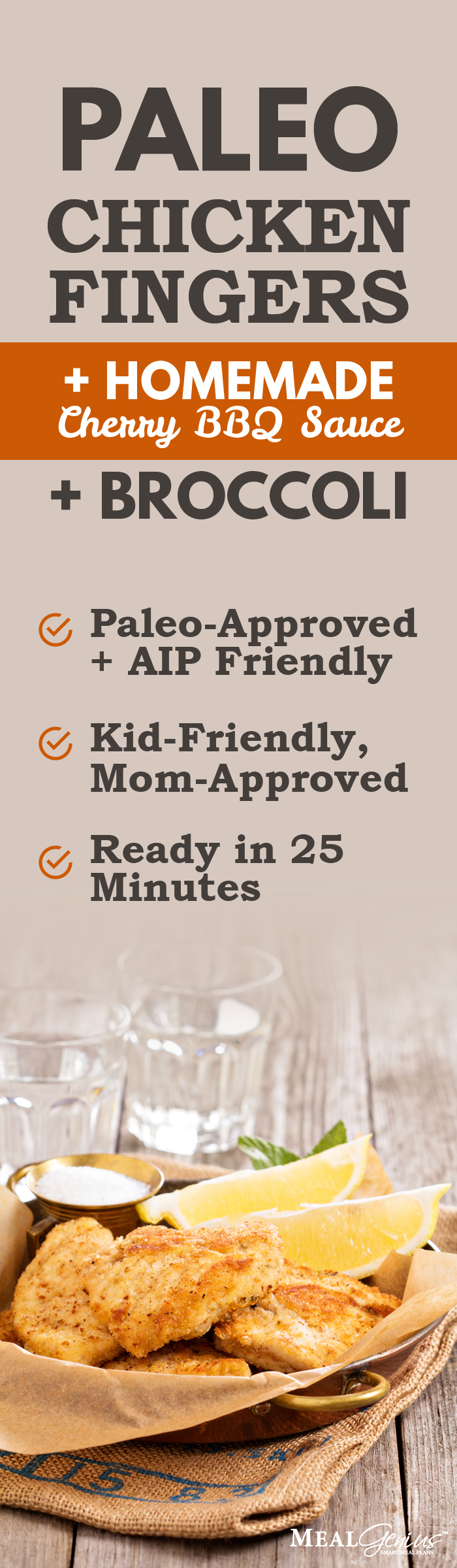 Paleo Chicken Fingers with Cherry BBQ - AIP Diet