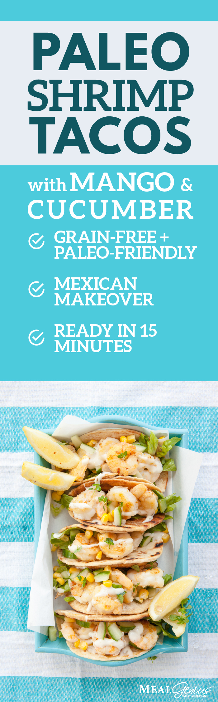 Paleo Shrimp Tacos - Meal Genius