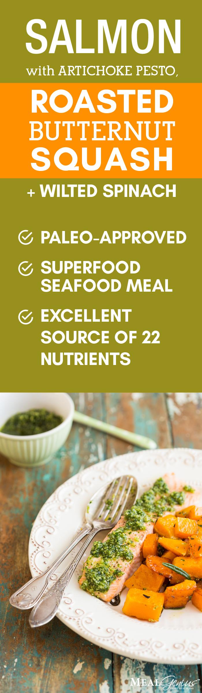 Wild Salmon Artichoke Pesto - Meal Genius