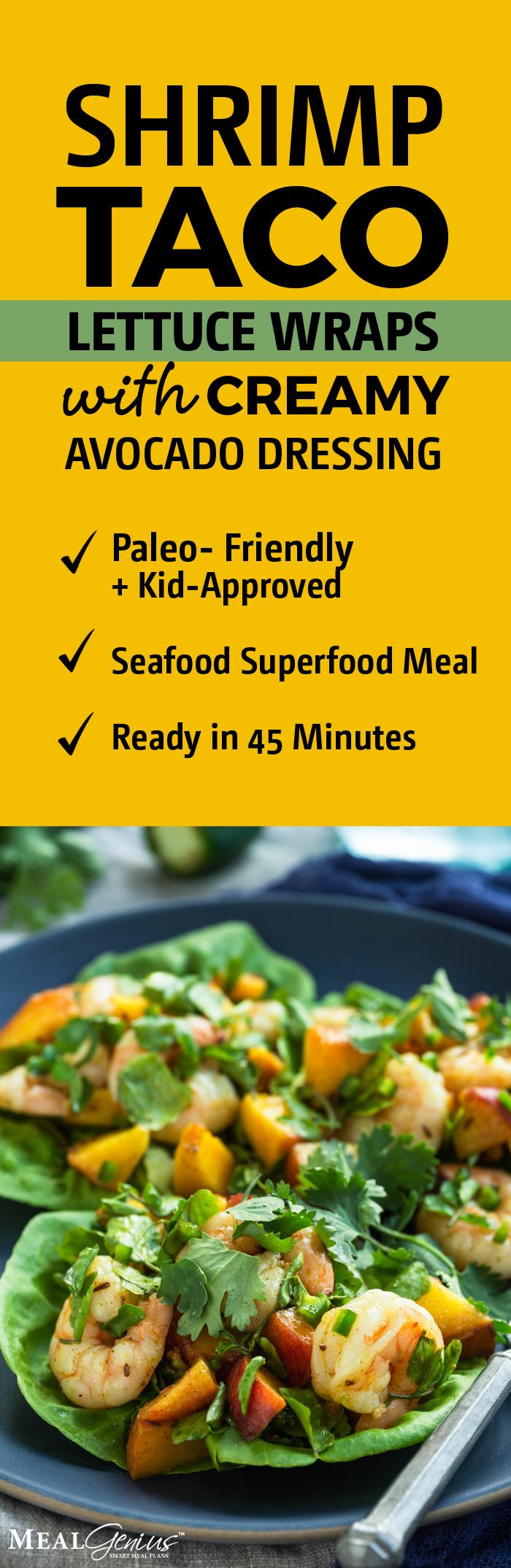 Shrimp Taco Lettuce Wraps - Meal Genius