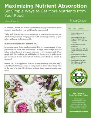 Boost Nutrient Absorption - Meal Genius